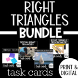 Right Triangle Task Card Bundle with Google Forms DISTANCE LEARNING