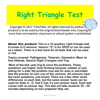 Right Triangle Test