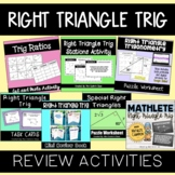Right Triangle Trig Activity Bundle