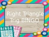 Right Triangle Trig BINGO GAME - plus word problems