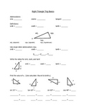 Right Triangle Trig Basics - Fill in the blank notes