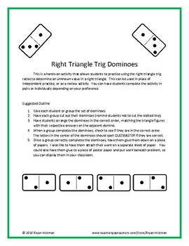 Right Triangle Trig Dominoes