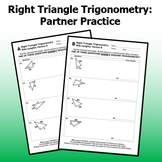Right Triangle Trig - Finding Side Lengths Partner Activity