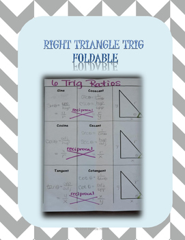 Right Triangle Trig Foldable
