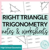 Right Triangle Trig Guided Notes and Worksheets