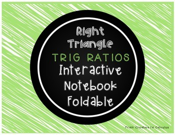 Right Triangle Trig Ratios Foldable