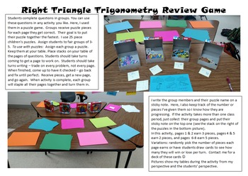 Right Triangle Trig - Review Activity