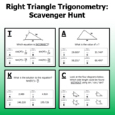 Right Triangle Trig - Scavenger Hunt (no word problems)