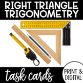 TRIGONOMETRY - Right Triangle Trig Task Cards with Google Form DISTANCE LEARNING