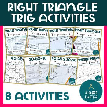 Right Triangle Trigonometry Activities BUNDLE