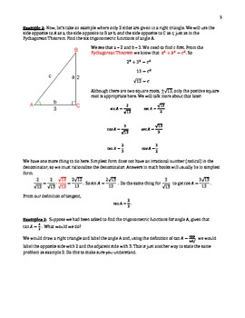 Right Triangle Trigonometry (B-1)