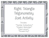 Right Triangle Trigonometry Card Sort Game