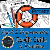 Right Triangle Trigonometry Doodle Guide & Practice Worksh