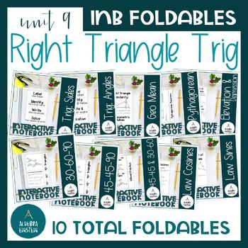 Right Triangle Trigonometry Foldable Notes BUNDLE