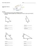 Right Triangle Trigonometry INVESTIGATION - 2 VERSIONS - m