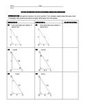 Right Triangle Trigonometry Partner Activity