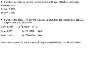Right-Triangle Trigonometry PowerPoint