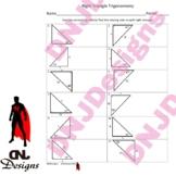 Right Triangle Trigonometry Printable/Handout/Homework