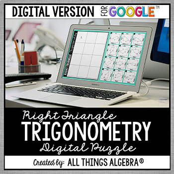 Right Triangle Trigonometry Puzzle: DIGITAL VERSION (for Google Slides™)