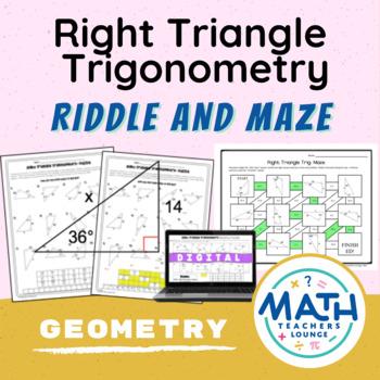 Right Triangle Trigonometry- Puzzle Worksheet