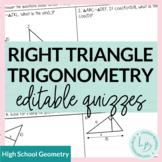 Right Triangle Trigonometry Quizzes