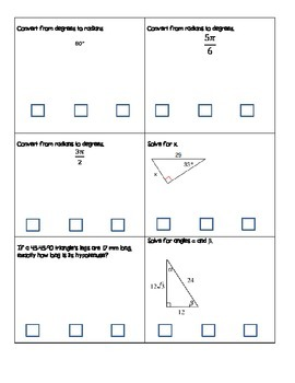 Right Triangle Trigonometry Relay Race Review