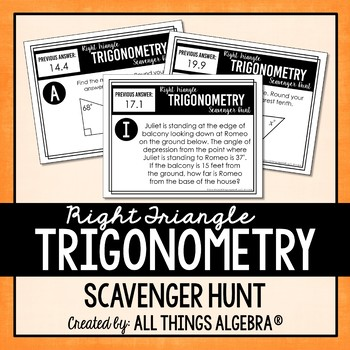 Trigonometry teaching resources lesson plans teachers pay teachers right triangle trigonometry scavenger hunt right triangle trigonometry scavenger hunt fandeluxe Choice Image