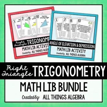 Trigonometry (Skills and Applications) Math Lib Bundle