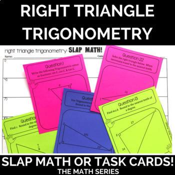 Right Triangle Trigonometry Slap Math!