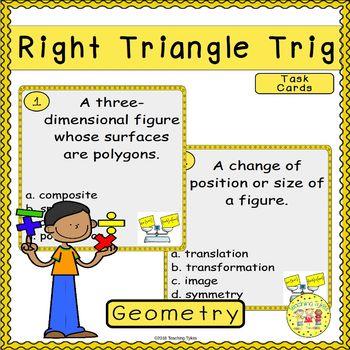 Right Triangle Trigonometry Task Cards