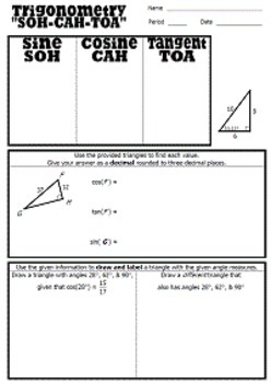 Right Triangle Trigonometry Unit