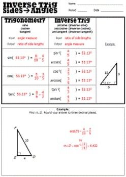 Right Triangle Trigonometry Unit