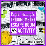 Right Triangle Trigonometry Unit Review - Escape Room Activity