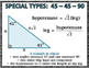 Right Triangles - Right Triangles and Trigonometry Wall Posters/Word Wall Cards