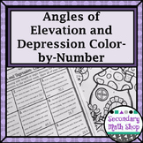 Trigonometry - Angles of Elevation & Depression Color-By-Number