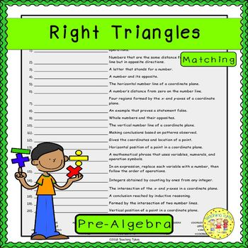 Right Triangles Matching