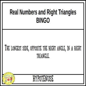 Right Triangles Pre-Algebra BINGO