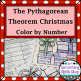 Right Triangle - Pythagorean Theorem Color-By-Number Christmas Worksheet