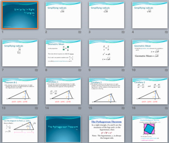 Right Triangles (Pythagorean Thm, Trig Ratios) - PPT, Notes and Practice BUNDLE