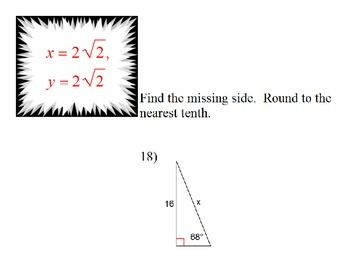 Right Triangles Review Scavenger Hunt