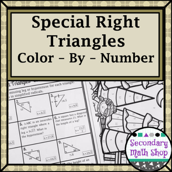 Right Triangles (Special)- 45 45 90 & 30 60 90 Wintery Col