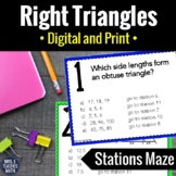 Right Triangles Stations Maze Review Activity