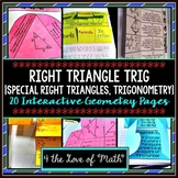 Right Triangles, Trig: Geometry Interactive Notebook Pages
