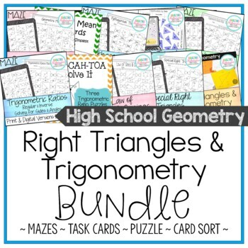 Right Triangles & Trigonometry Activity Bundle