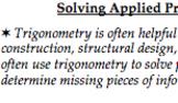 Right Triangles & Trigonometry Anticipatory Sets - Real World (G.SRT.6 G.SRT.8)
