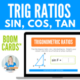 Right Triangles Trigonometry Boom Cards - Sin, Cos, Tan