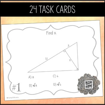 Right Triangles & Trigonometry Task Cards