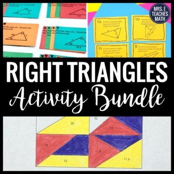 Right Triangles Unit Activity Bundle