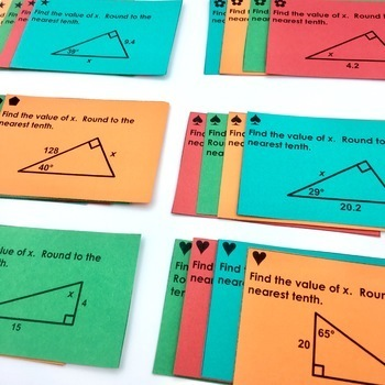 Right Triangles Unit Activity Bundle