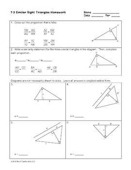 Right Triangles Unit Bundle
